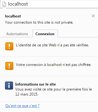 Connexion http non sécurisée