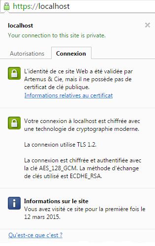 Connexion https sécurisée
