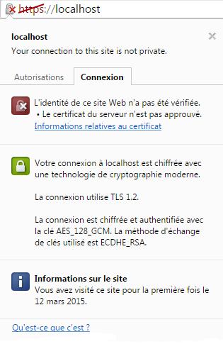 Connexiion https non sécurisée