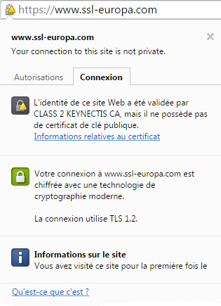 Connexion https sans clef publique